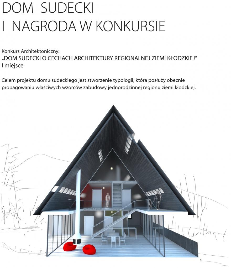 DOM SUDECKI 1. nagroda | Sudeten House 1st place