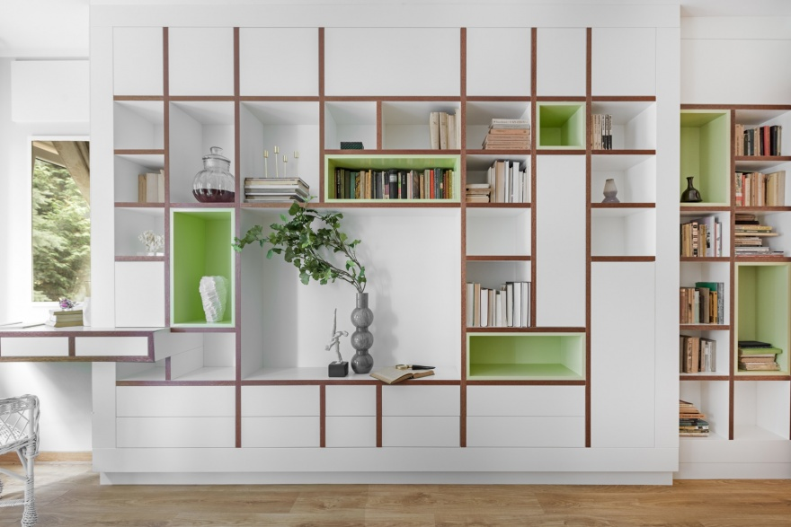 Biblioteka z zielenią | Green Bookcase